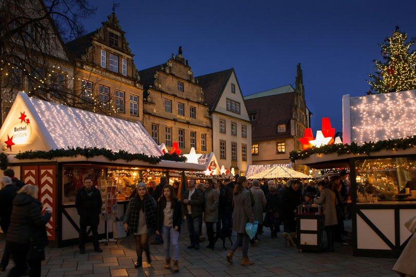 Bielefelder Weihnachtsmarkt.Heber Foto Bielefeld Sparrenburg Ravensberger Spinnerei